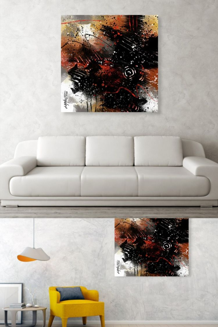 Abstract expressionist digital painting. Prints from 8