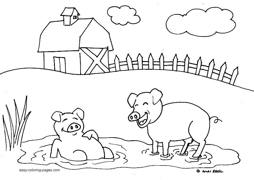 Oink Oink Farm Animal Coloring Pages Animal Coloring Pages Farm Coloring Pages