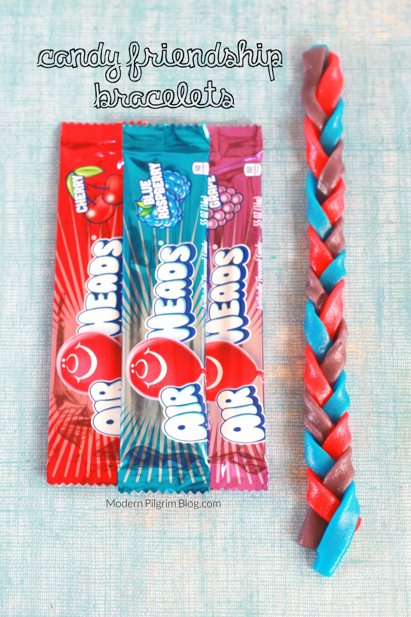 Kids Craft Candy Friendship Bracelets with Airheads