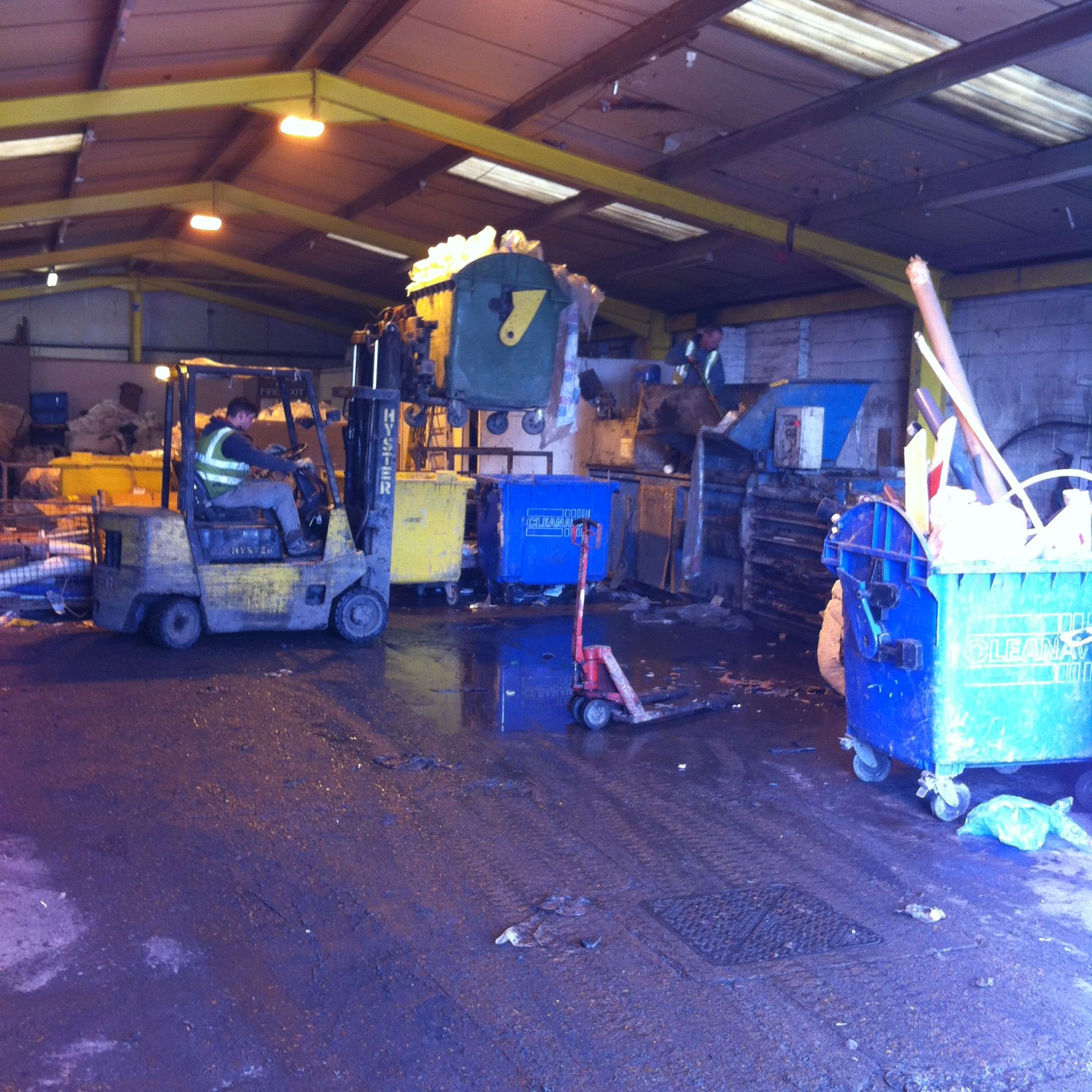 KINGSNORTH WASTE MANAGEMENT facility located in Hoo, Kent.  Purple is pretty but we accept all other colours too! We are the U.K.'s leading experts in plastics waste recycling! Just call 01634 253557 to arrange a delivery or pick up!