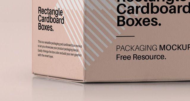 Download Rectangular Psd Box Mockup Psd Mock Up Templates Box Mockup Packaging Mockup Mockup Psd