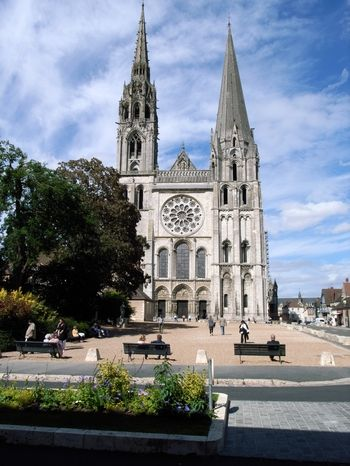 Chartes Cathedral...Chartes, France  My favorite Cathedral in France...well this and sacre couer. It's a tie.