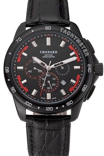 51baff55219 Buy Replica Chopard Mille Miglia GTS Black Dial Black Strap Ladies Watch