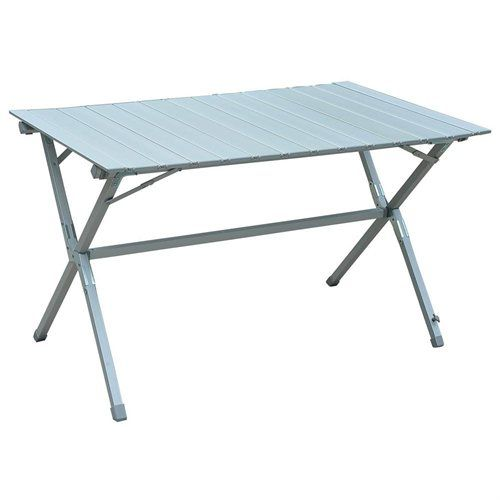 Outsunny Roll Up Top Aluminum Camp Portable Camping Picnic Table W/  Carrying Bag   45