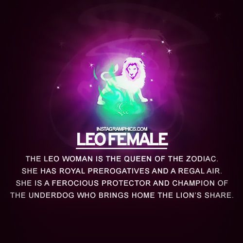 Characteristics of a leo female