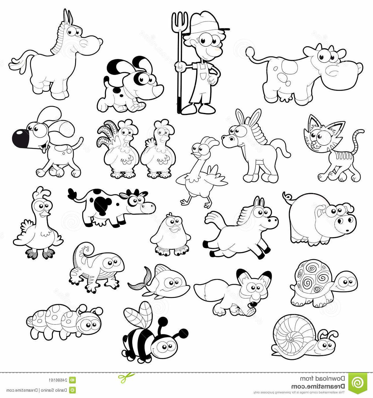 Farm Animals Clipart Black And White Background 1 Hd