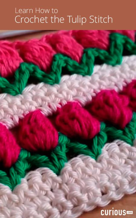 Learn How To Crochet The Tulip Stitch In This Lesson Using Three