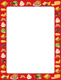 Food Border make recipe cards Food border Page