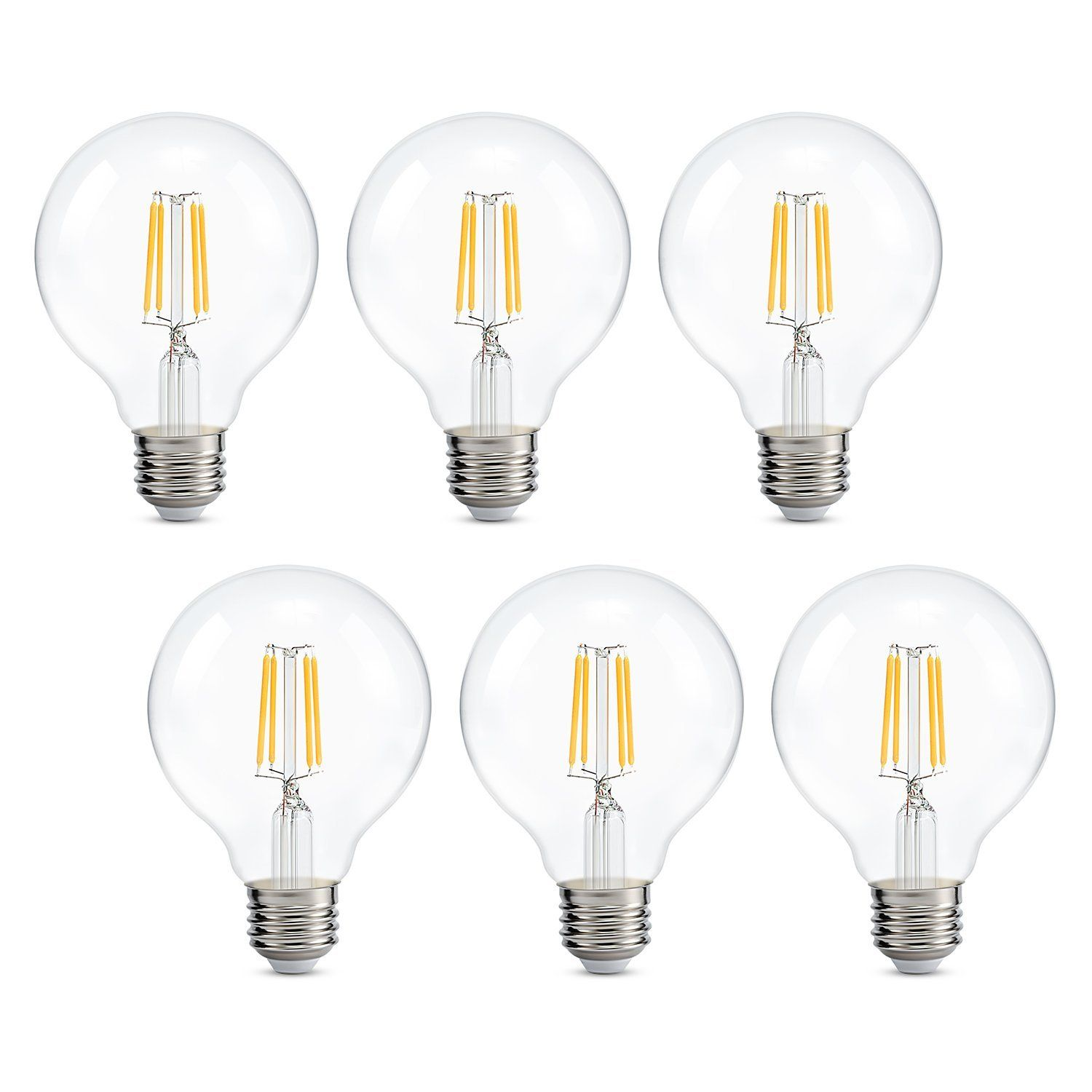 Dimmable Edison Led Globe Light Bulb G25 Warm White K
