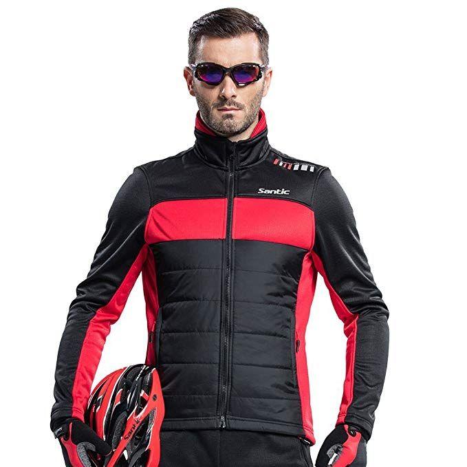 8b344de9e SANTIC Men s Cycling Jacket Winter Coat Windproof Thermal Long Jersey Review