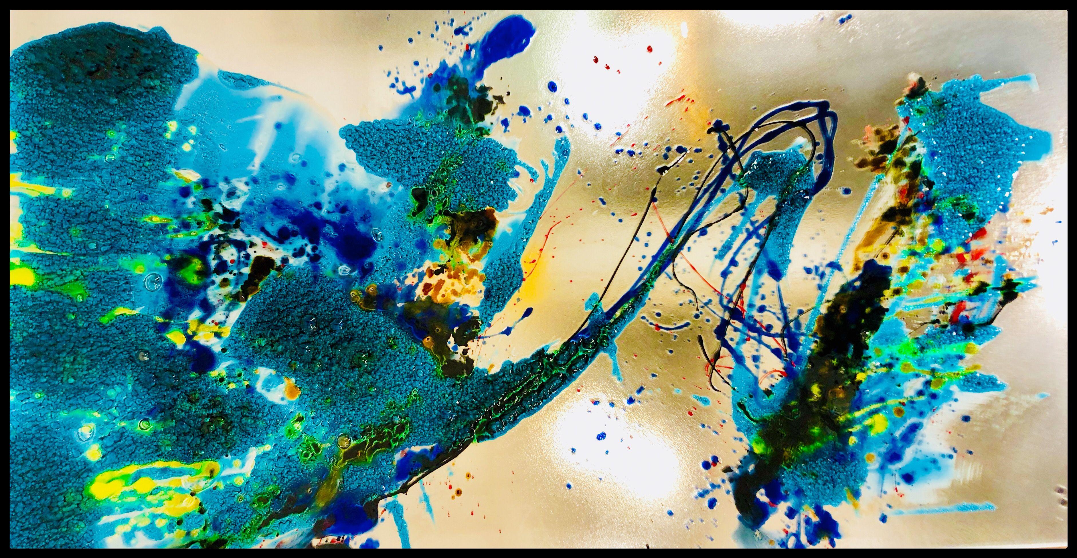 Atoll Artmailhot Com Tableau De Verre Par L Artiste Verrier