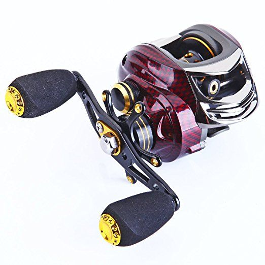 Amazon com : SHISHAMO Upgrade Baitcasting Reel 17+1 Ball