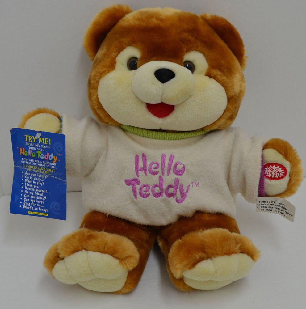 Hello Teddy Dan Dee Interactive Talking Plush Brown Bear