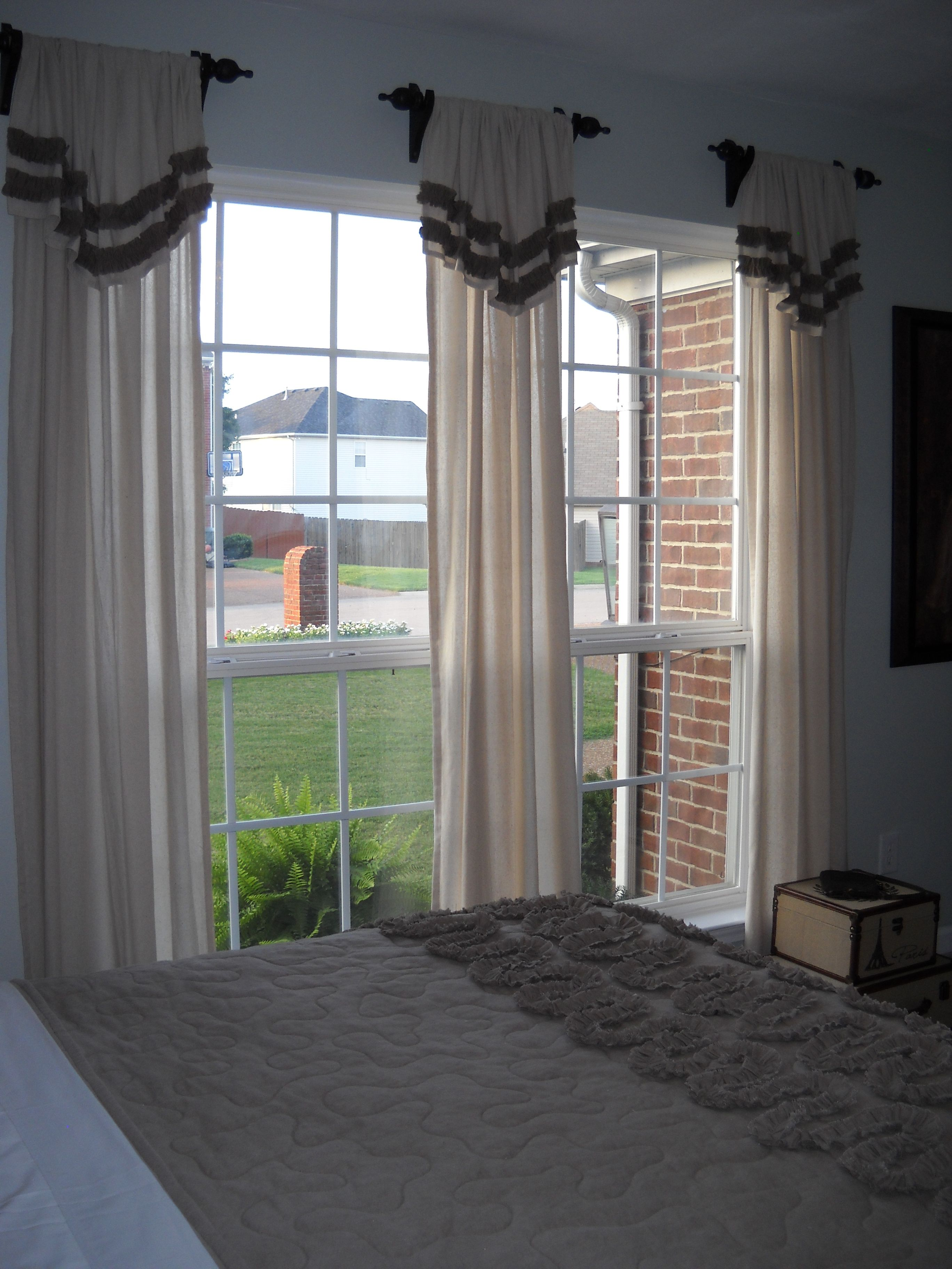 French Country Bedroom Simple Flip Top Curtains With Ruffle