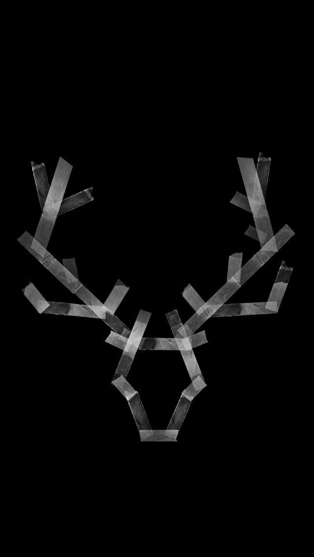 Simple Deer Black White Iphone Wallpaper Panpins Black And White Wallpaper Iphone White Iphone Iphone Wallpaper