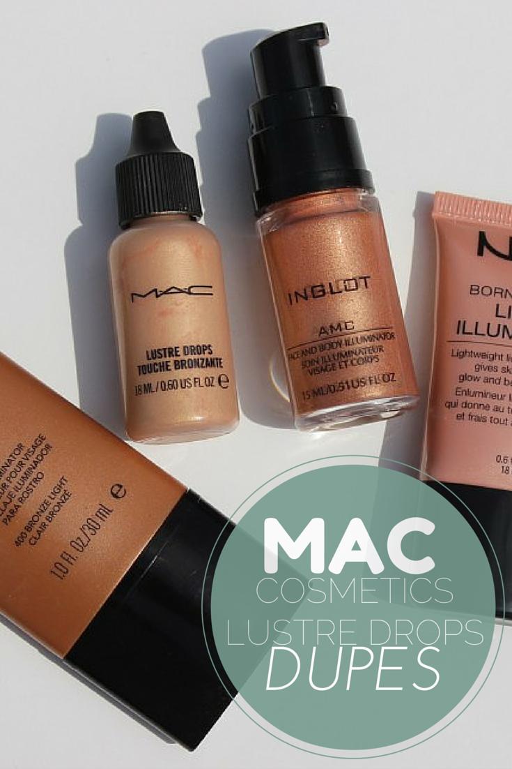 How to use MAC Liquid Illuminator Lustre Drops + 4 Dupes