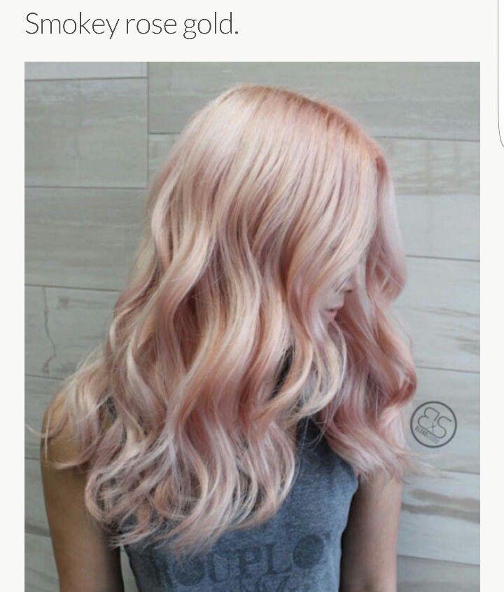 Smokey Rose Gold Hair 2 Rose Gold Hair Hair Styles Hair