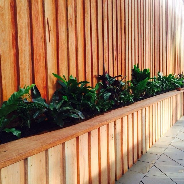 Back Yard Ideas Timber Fence Timber Planter Box