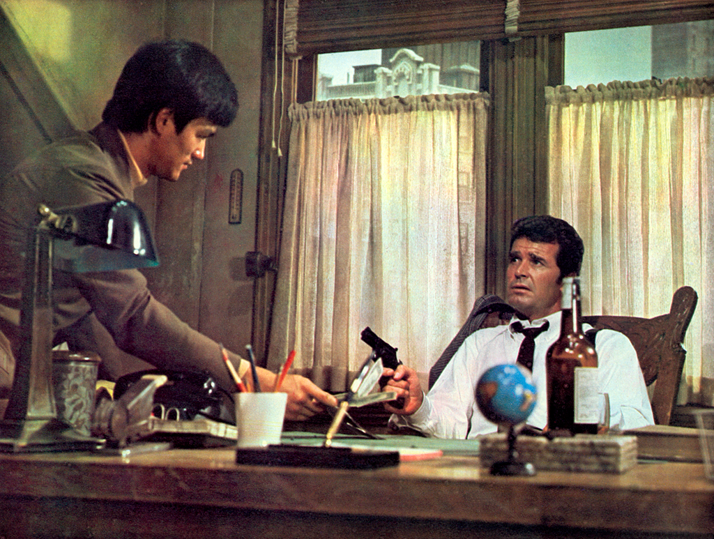 """Philip Marlowe (James Garner) to Winslow Wong (Bruce Lee): """"I like a man that uses good grammar. You impress me, Mister Wong. Whom sent you?"""" -- from Marlowe (1969) directed by Paul Bogart"""