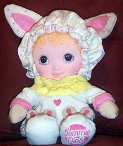 Searching Pink 80s Playskool Jammie Pies Rabbit Doll Rabbit Dolls Childhood Toys Playskool
