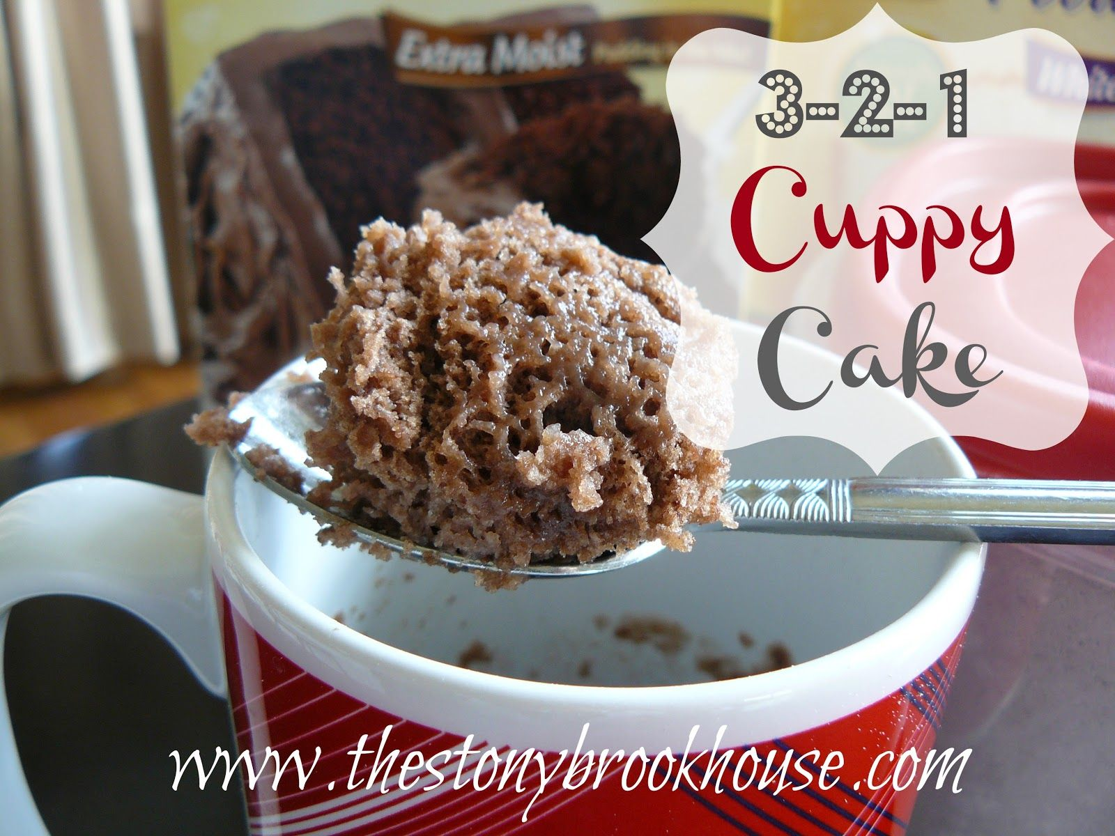 The Stonybrook House: 3-2-1 Cuppy Cake {The EASIEST Cake Ever!}