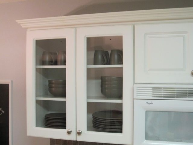 Hello Newmans Glass Front Cabinets I Could Do This Maybe