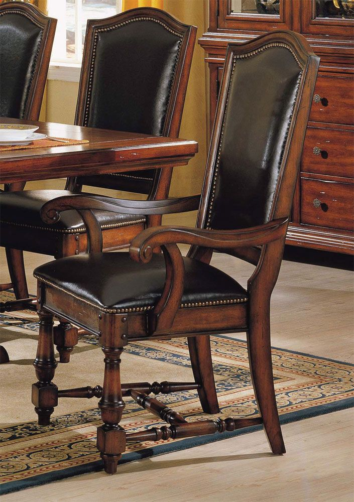 Ashford Pair Of Pu Leather Back Arm Chairs By Winners Only