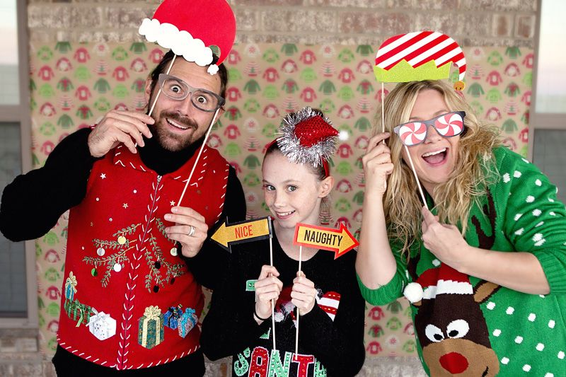 Awesome Tacky Sweater Christmas Party Ideas Part - 8: Ugly Sweater Party - Fun Tacky Sweater Christmas Party With Printables