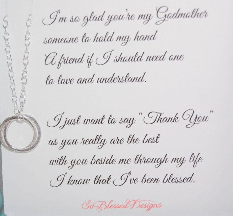 Thank You Poem For Wedding Gifts Godmother Gifts