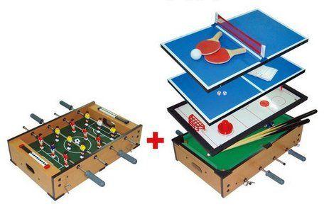 6 In 1 Multifunction Sport Game Table (Pool, Foosball, Hockey, Table Tennis
