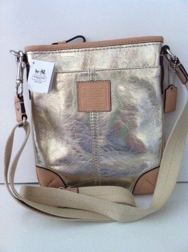 bb37581aa1 Coach metallic gold swingpack bag  crossbody or shoulder- brand new ...