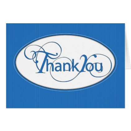 Letter Of Recommendation Thank You In Blue Script Card  Script