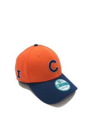 huge discount f783e 75623 New Era Chicago Cubs Mens Orange Co Branded 9FORTY Adjustable Hat
