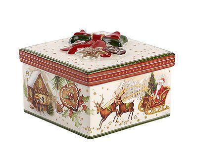Villeroy /& Boch CHRISTMAS MARKET Small Round Box