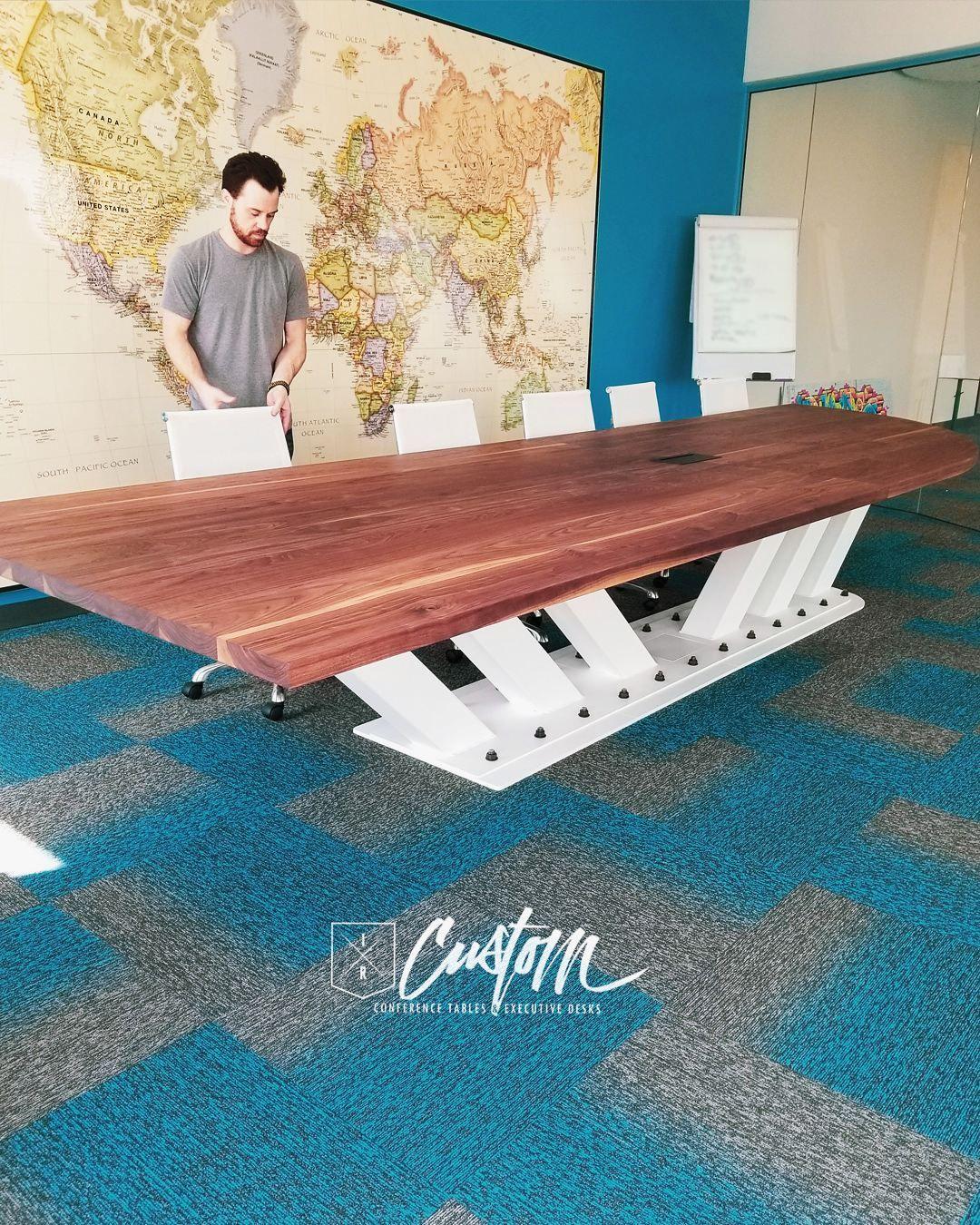 How Many People Could You Fit Around This Ft X Ft Walnut - 5 ft conference table