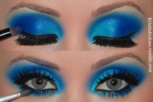 Holy blue eyeshadow, Batman!