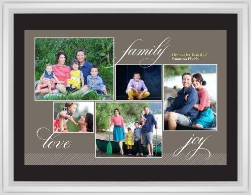 Family Sentiments Framed Print, White, Classic, Black, Black, Single piece, 24 x 36 inches, Brown