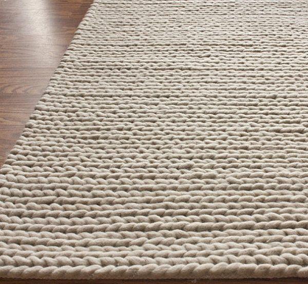 teppich strick beige bodenbelag holz teppich pinterest teppiche moderner teppich und. Black Bedroom Furniture Sets. Home Design Ideas
