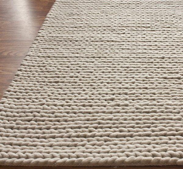 Teppich hellgrau wolle  Teppich Strick beige Bodenbelag-Holz | Teppich | Pinterest ...