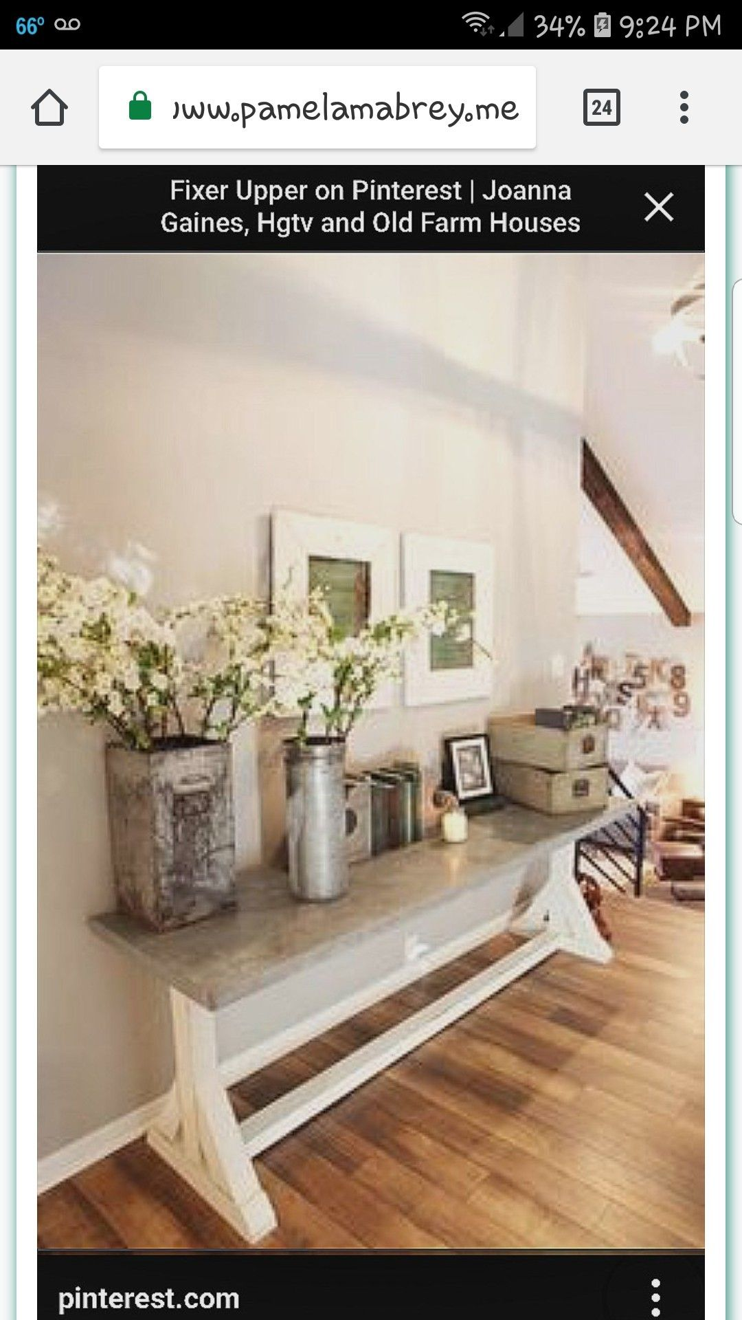 Joanna gaines hallway decor  Pin by T on living room decor  Pinterest  Home Fixer upper and