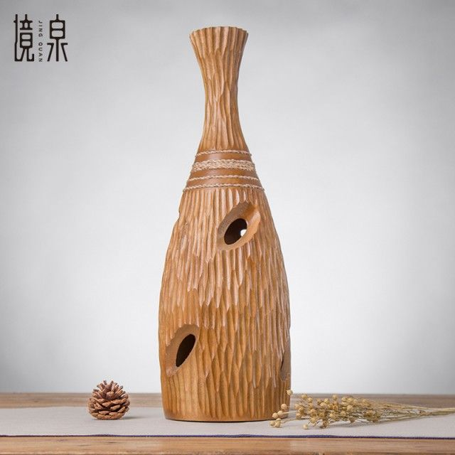 Fine mouth produce in vase New Chinese style household soft adornment