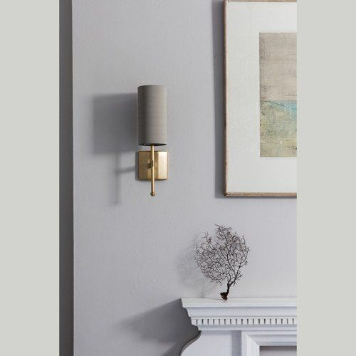 Reduced Depth Single Stem Wall Light With Silk In 2019 M