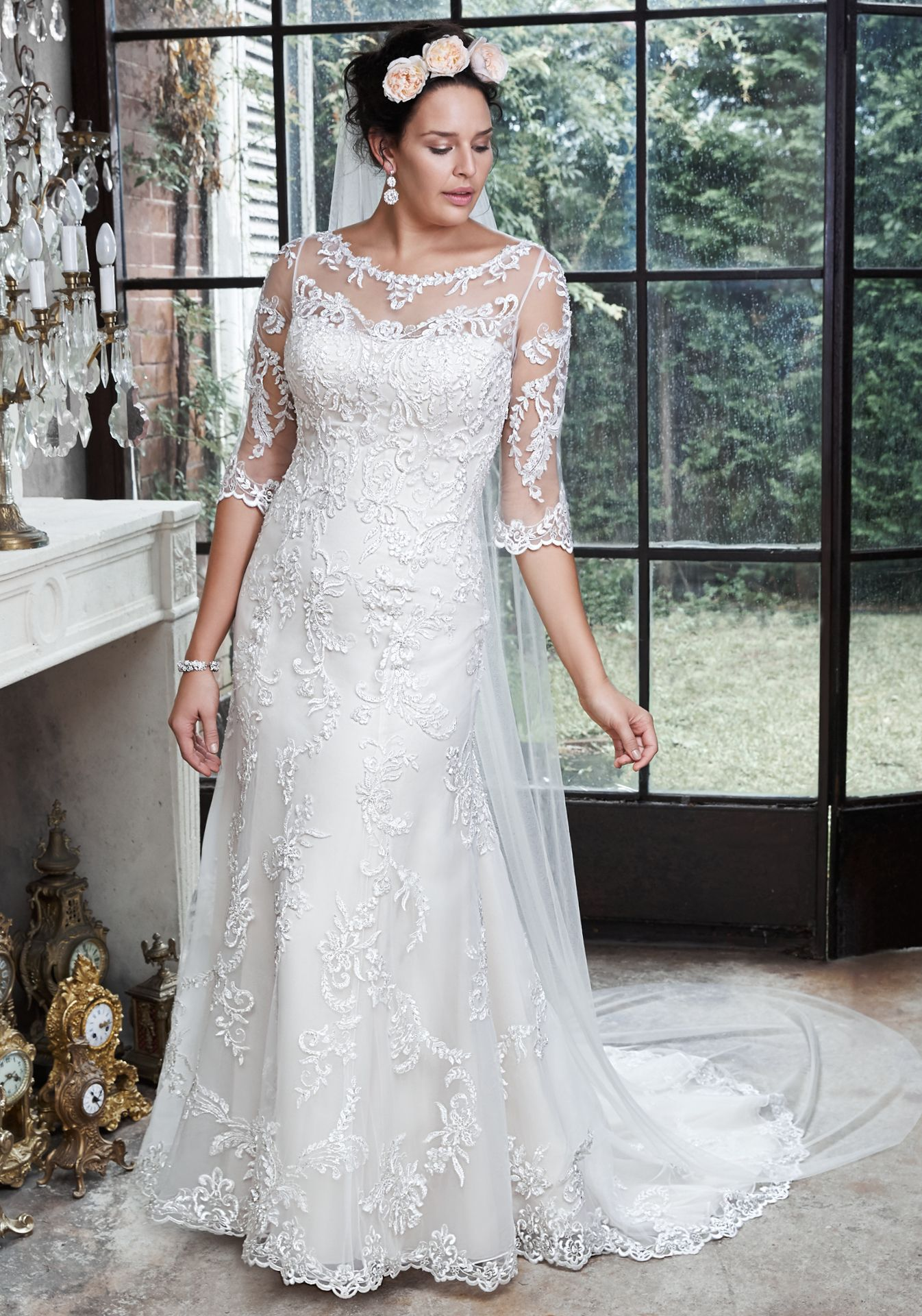 «Verina» by Maggie Sottero – If you love vintage, you have to try this on! www.c…