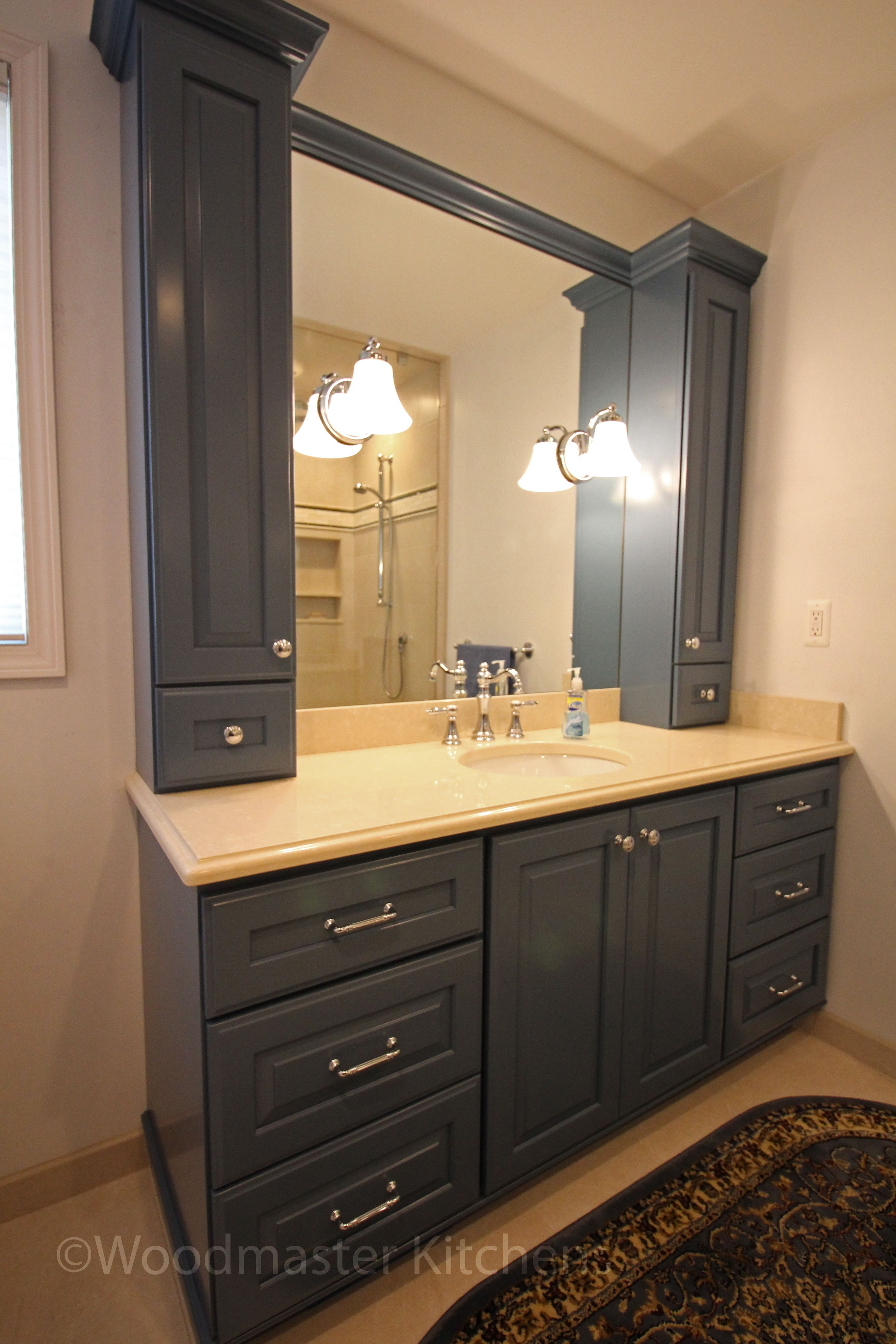 A Traditional Bathroom Design Offers Practical Storage Combined With Warm Elegance The Bathroom Mirror Cabinet Traditional Bathroom Bathroom Mirror Makeover