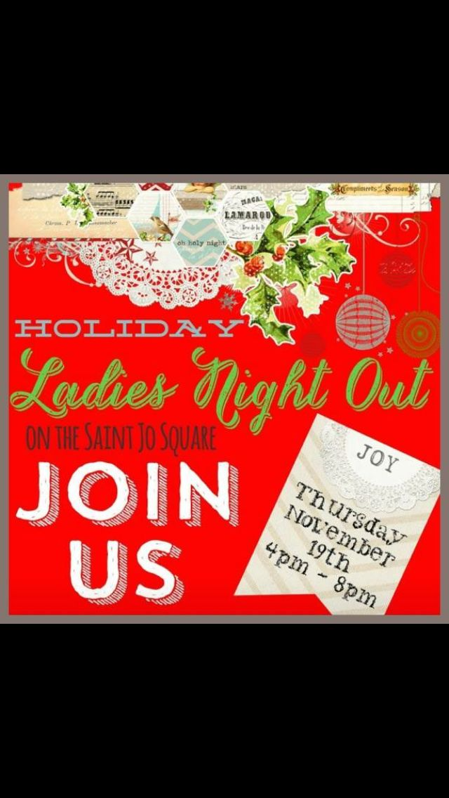 Don't forget to come by and see us tonight for Ladies Night on the square in Saint Jo! We will be having giveaways!! #turquoiseleopardboutique #comeseeus #ladiesnighout