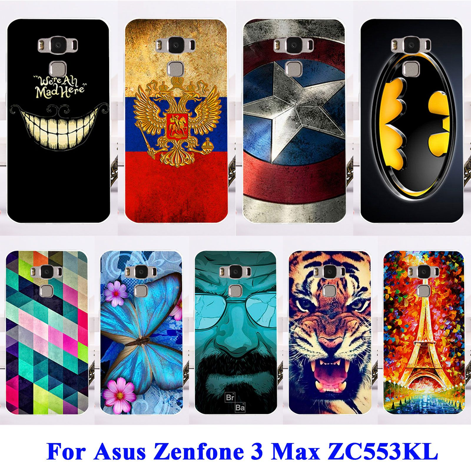 buy online 7af2f 70638 Soft TPU Hard Plastic Phone Cases For Asus Zenfone 3 Max ZC553KL ...