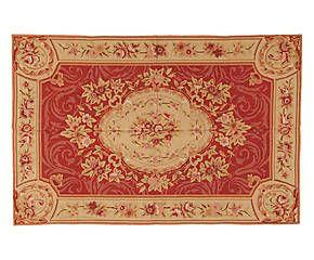 Tappeto Aubusson in lana a mezzo punto Floreal 122x183