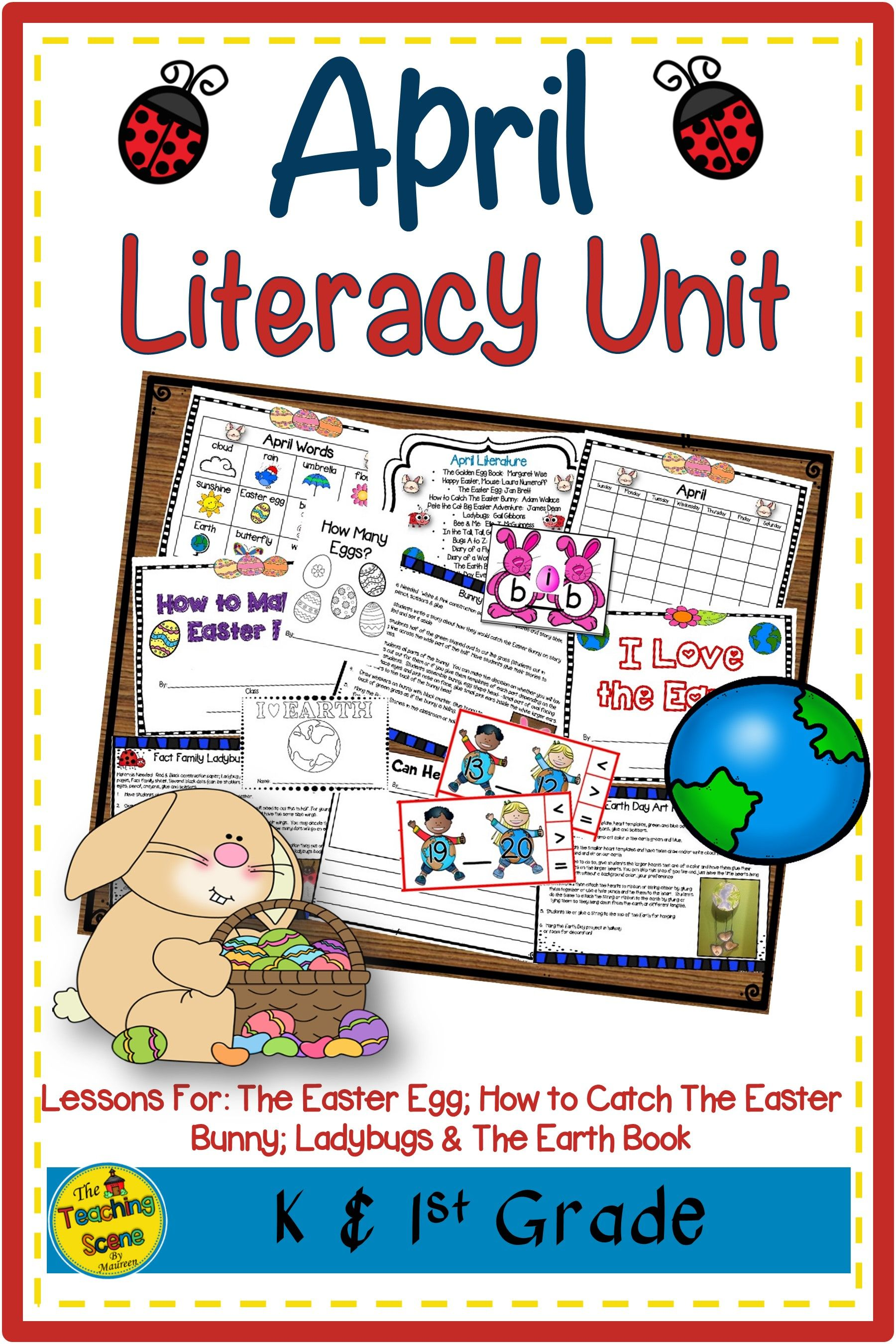 April Literacy Unit Easter Ladybugs Amp Earth Day In