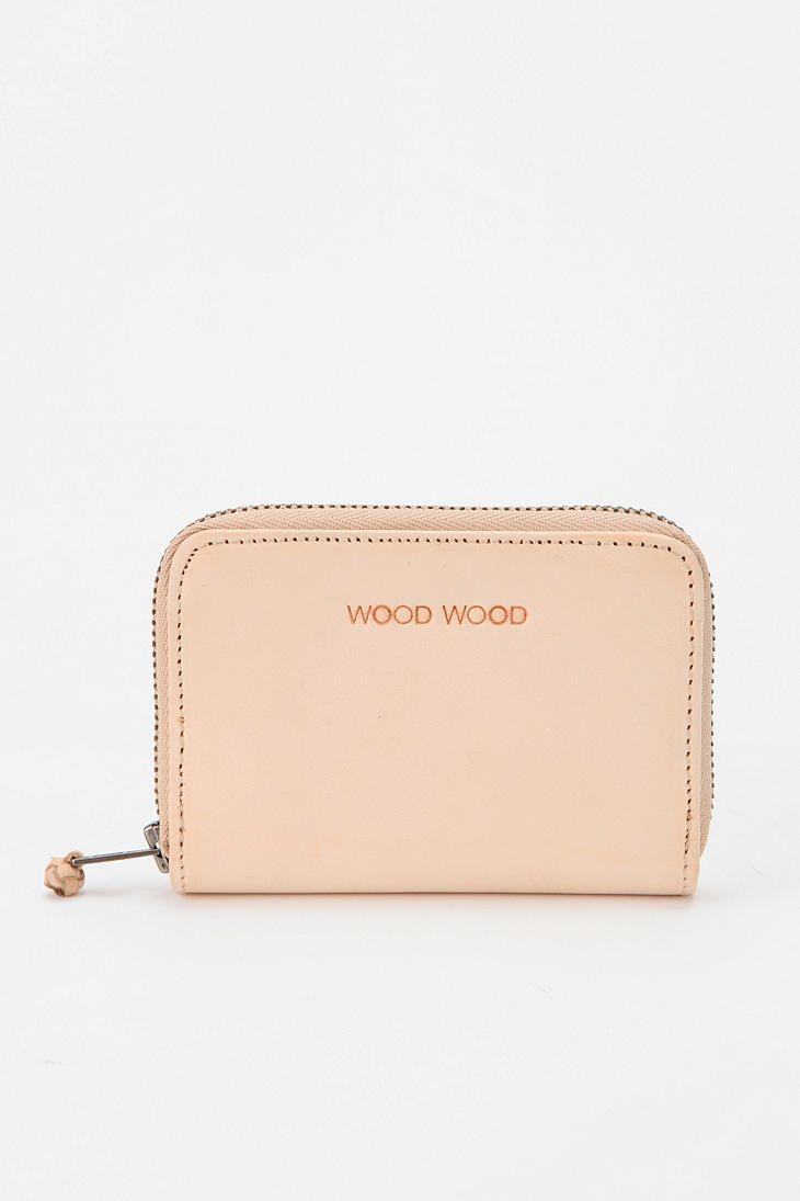Wood Wood Zip Card Wallet