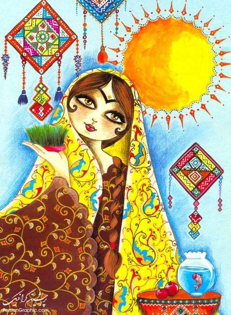 Happy new Persian Year to all the people on earth <3 the spring is coming
